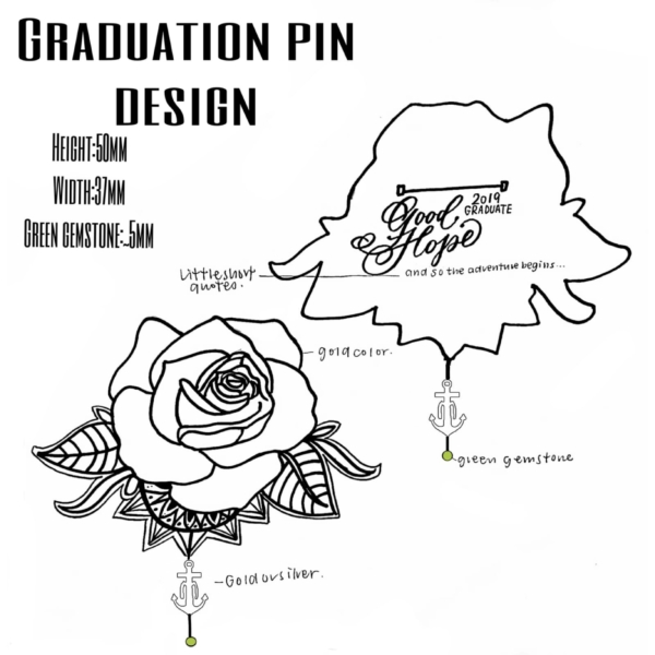 2019 Graduation Pin Design Winner